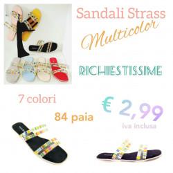 Stock Sandali Strass...